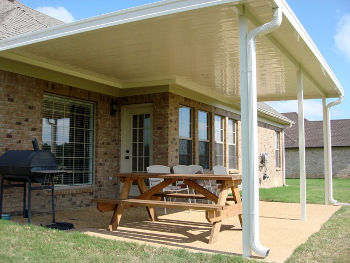 These Patio Covers Typically Are Equipped With Gutter Systems So You Can  Control Where The Water From Your Roof Ends Up.